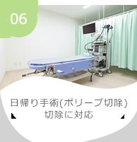 06 日帰り手術(ポリープ切除)切除に対応